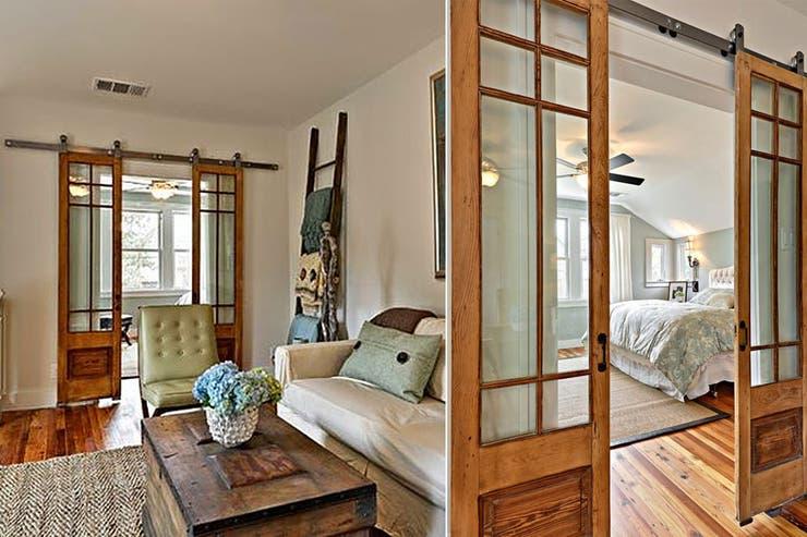 10 ideas para sumar una puerta estilo granero la nacion for Puertas de madera y hierro antiguas