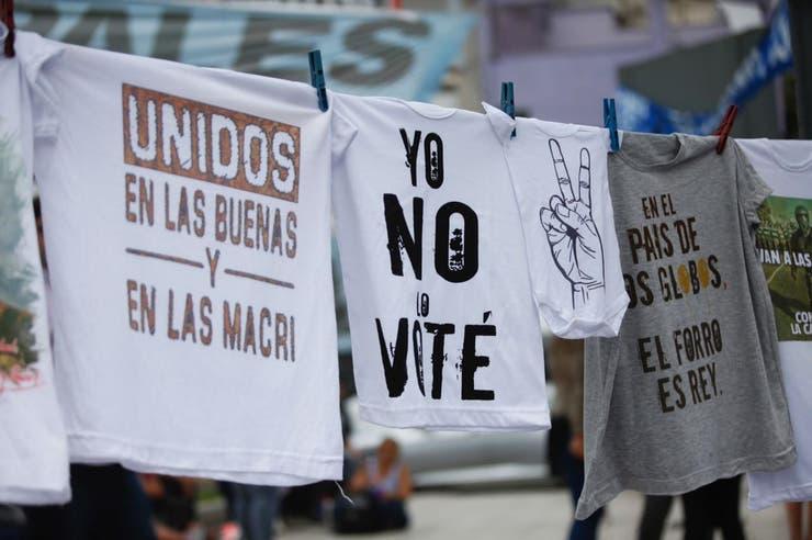 Algunas consignas contra el Gobierno en la marcha