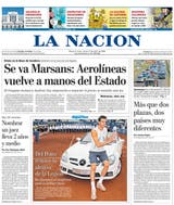 La portada de LA NACION, con la imagen triunfal de Del Potro