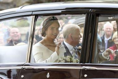 La Princesa Eugenia al dirigirse a la capilla de St George
