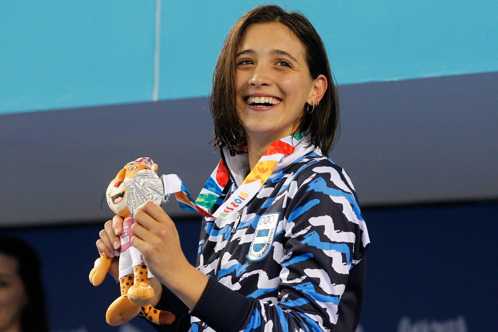 Delfina Pignatiello cosechó otra medalla de plata: fue segunda en los 400 metros libres en los Juegos Olímpicos de la Juventud