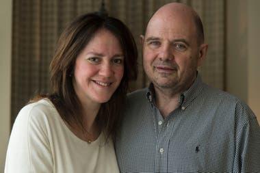 Carlos Rottemberg y su actual mujer