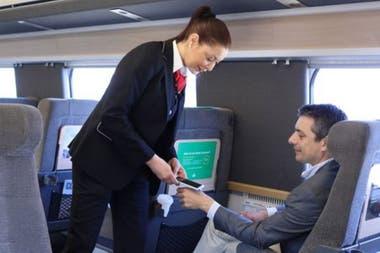 En este tren puedes pagar con tu mano