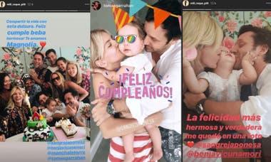 La China Suárez y Benjamín Vicuña festejaron el primer cumpleaños de su hija Magnolia