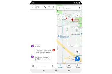 Android Q trae un soporte mejorado para pantallas flexibles y de diferentes tamaños, ampliando la función que permite poner dos aplicaciones en pantalla al mismo tiempo