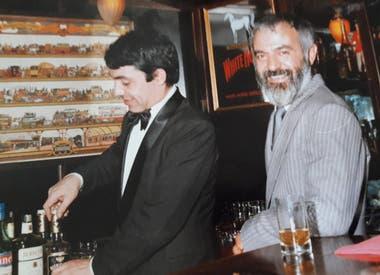 Echarri en Clarks junto al cocinero Ramiro Rodríguez Pardo