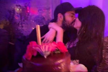Eva y Eduardo el mes pasado, en el cumpleaños de la actriz