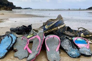 El calzado que llega a las costas le brinda información importante a los científicos