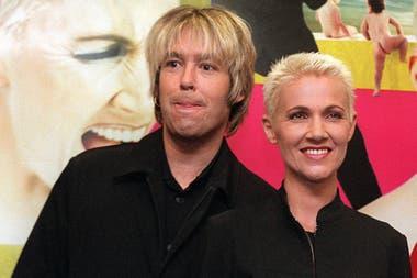En Argentina: Fredriksson junto a Per Gessle, en 1999, durante la presentación de su disco Have a Nice Day