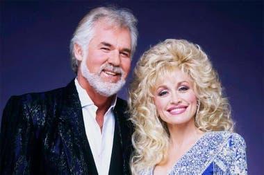 Kenny Rogers y Dolly Parton, colegas y amigos