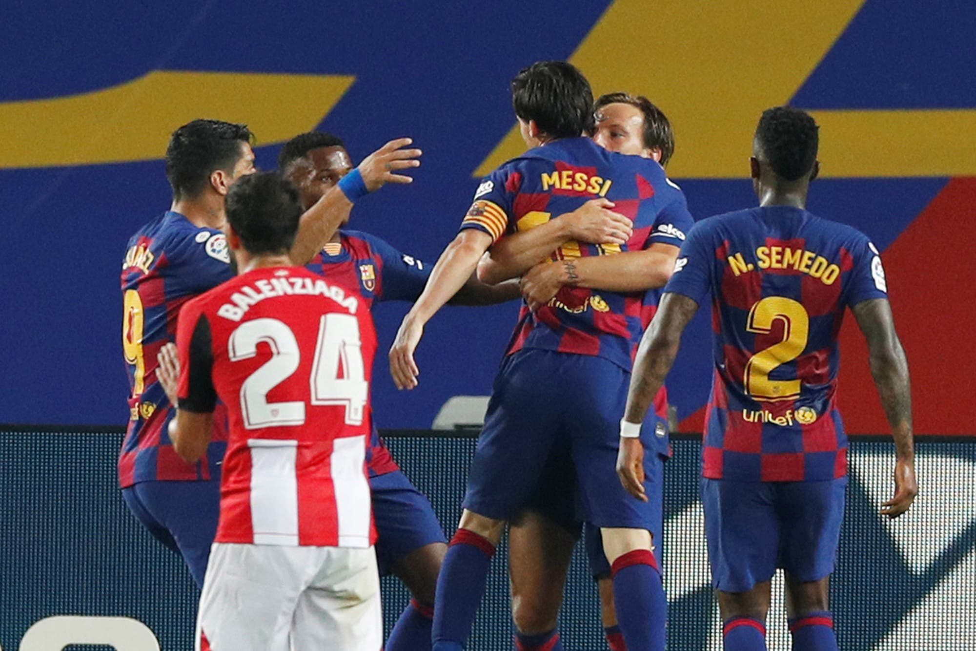 No llega el gol 700 de Lionel Messi, pero igual festejó: Barcelona le ganó un partido clave a Athletic Bilbao