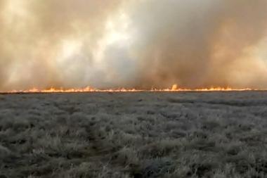 El incendio de 700 hectáreas en Cañada Ombú, Santa Fe