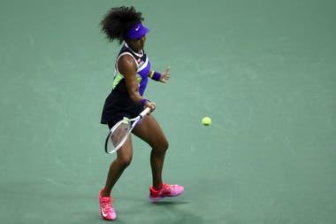 Naomi Osaka, en el partido contra Misaki Doi, por la primera rueda del US Open