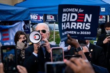 Nuevos aires. Joe Biden en un acto de campaña; se espera que revea el negacionismo ambiental de Trump