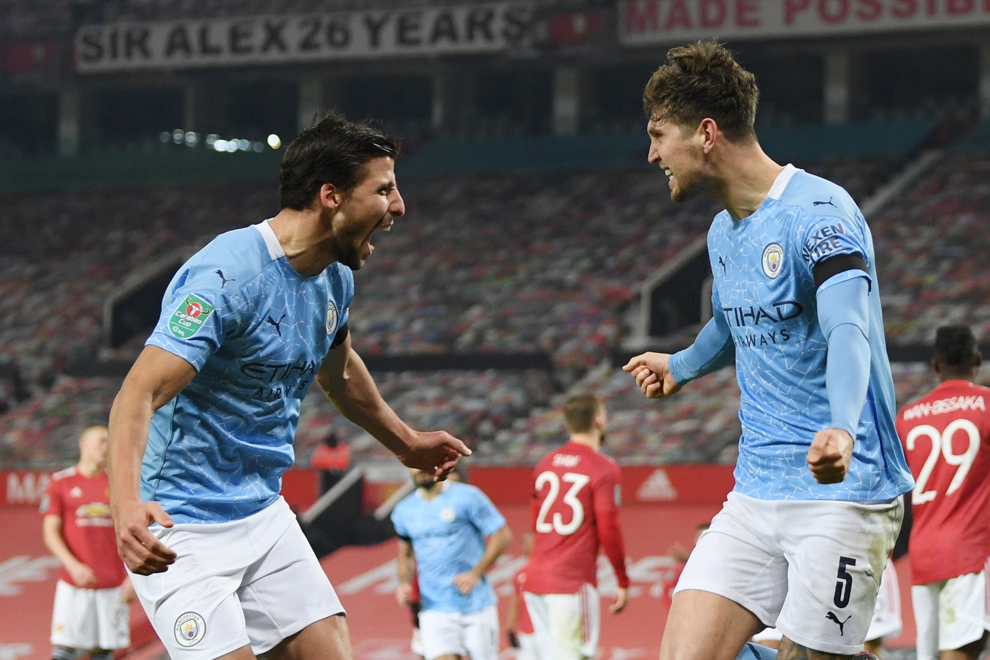 Manchester United - Manchester City: el equipo de Guardiola ganó el derby y es finalista de la Copa de la Liga inglesa