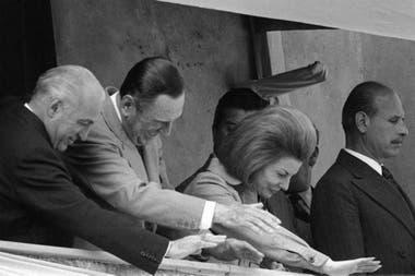López Rega, Perón y su esposa, en una imagen de 1973