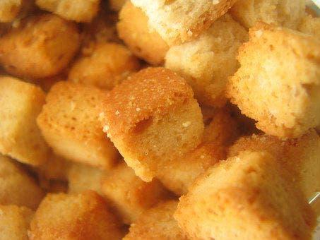 Receta de Croutones sin horno