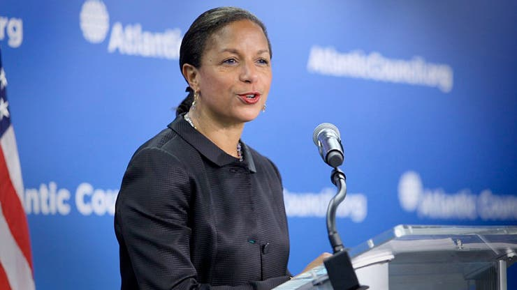 Susan Rice, al formular el anuncio en Washington
