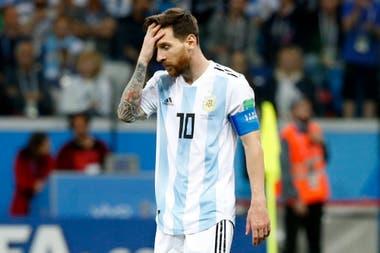 No brilló durante el partido contra Croacia, poco participativo y taciturno, hay preocupación por saber ¿Qué le pasó a Messi?