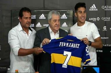 En enero pasado, Guillermo Pol Fernández fue presentado oficialmente por el presidente Jorge Ameal como jugador de Boca