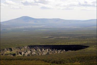 El derretimiento del permafrost dejó al descubierto al cráter de Batagaika.