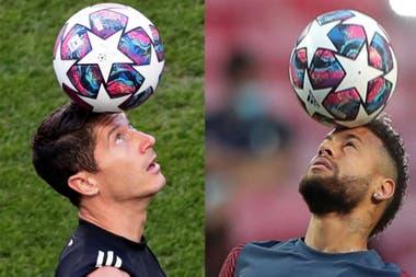 Robert Lewandowski y Neymar, dos figuras que buscarán la Champions League