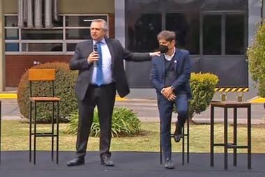 Alberto Fernández y Kicillof