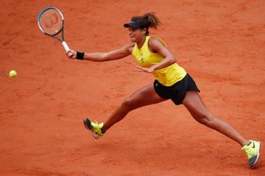 En París, Mayar Sherif, la primera egipcia en el cuadro principal de un Grand Slam; se formó en el tenis universitario estadounidense.