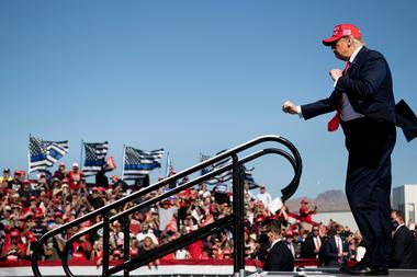 En los actos de campaña de Trump no hubo distanciamiento social