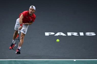 Diego Schwartzman, que está muy cerca de entrar en el Masters de Londres, este jueves jugará los 8vos de final de París-Bercy ante el español Alejandro Davidovich Fokina.
