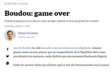 La columna que publicó Fernández en LA NACION