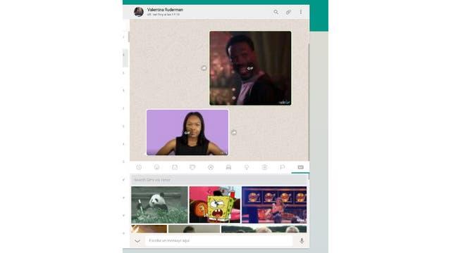 El buscador de GIFs animados también funciona en la versión Web