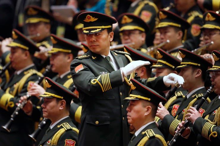 La Banda Militar tocó antes de la apertura de la sesión