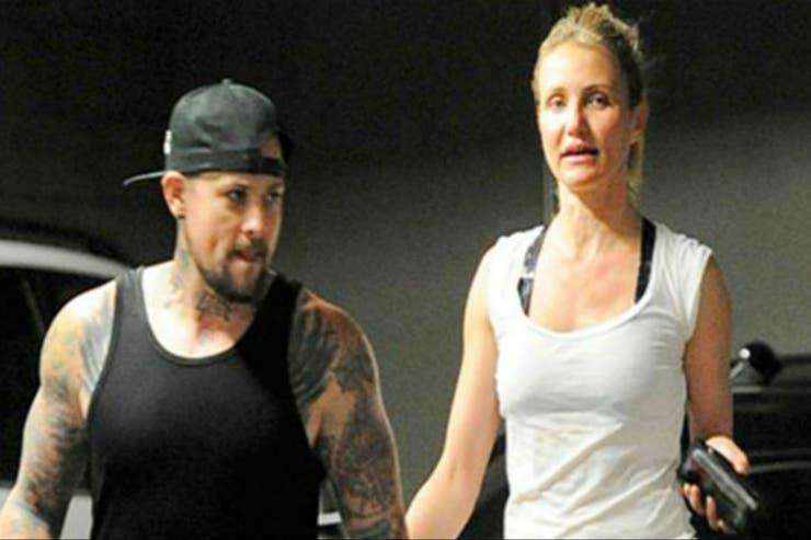 La actriz junto a su marido, el músico Benji Madden. En la actualidad, Cameron decidió priorizar su intimidad y sus hobbys para dejar el mundo de la actuación en un stand by del que podría no volver.