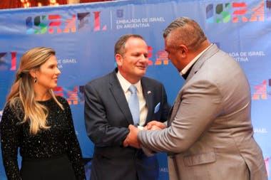 Tapia y el embajador de Israel presentaron el amistoso, pero sin estadio definido