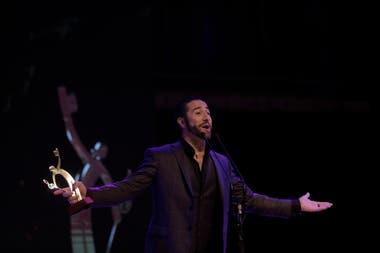 Mariano Chiesa, ganador en la categoría Mejor Actuación Protagónica Masculina por su desempeño en Sunset Boulevard
