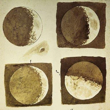 Y todo lo que vio, lo dibujó, como estas fases de la Luna