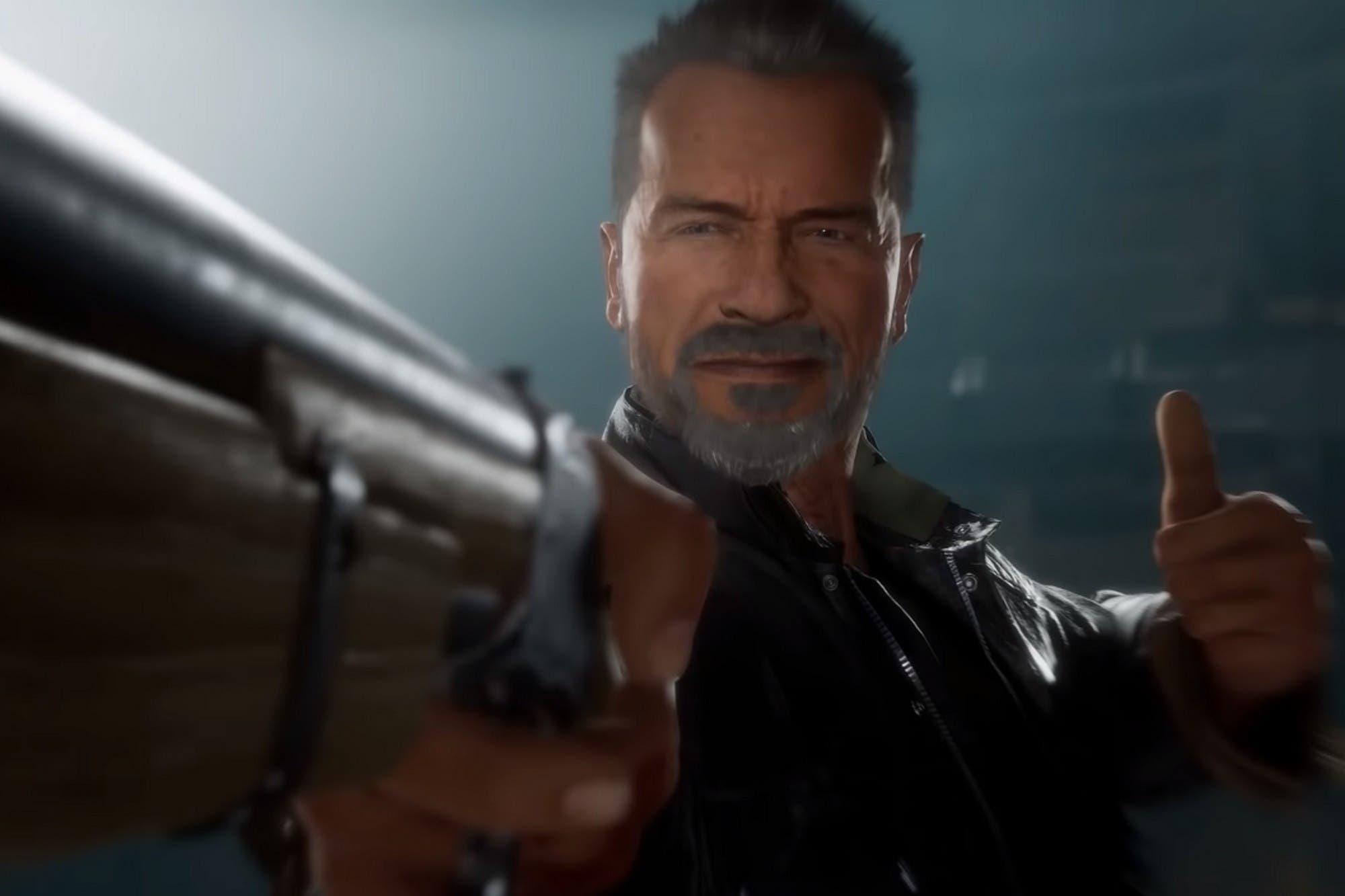 Así se ve el Terminator T-800 en las peleas del Mortal Kombat 11