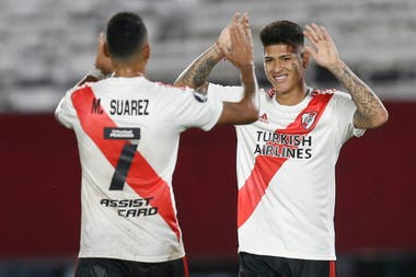 Suárez no estará en el regreso, mientras que Carrascal, al igual que De La Cruz, Borré y Paulo Díaz, podrán hacerlo