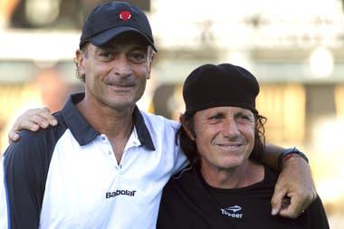José Luis Clerc y Guillermo Vilas coincidieron en una época brillante del tenis argentino