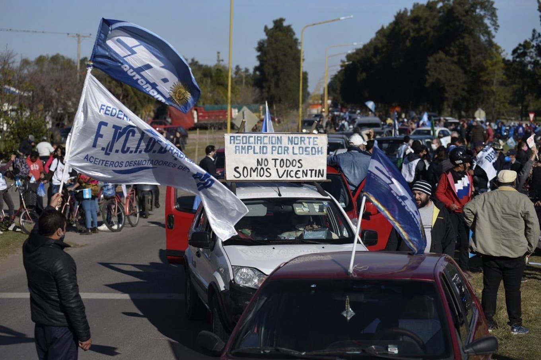 Con marchas a favor y en contra, la grieta se reavivó en Reconquista