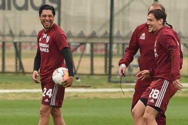 Volvieron las sonrisas en River, que llegará a la Copa con una fuerte falta de ritmo