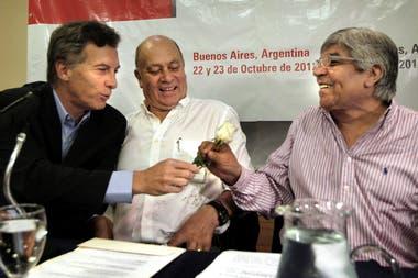 Mauricio Macri y Hugo Moyano, cuando unían sus críticas al kirchnerismo