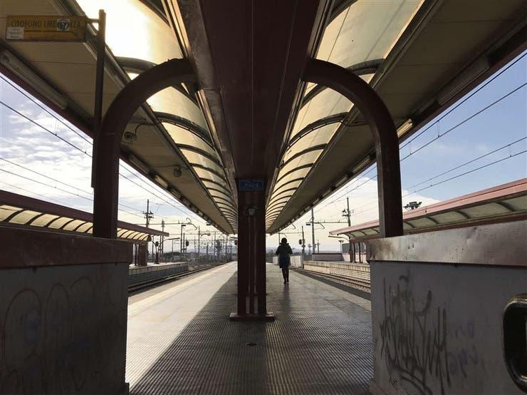 La estación de la línea Circumvesuviana