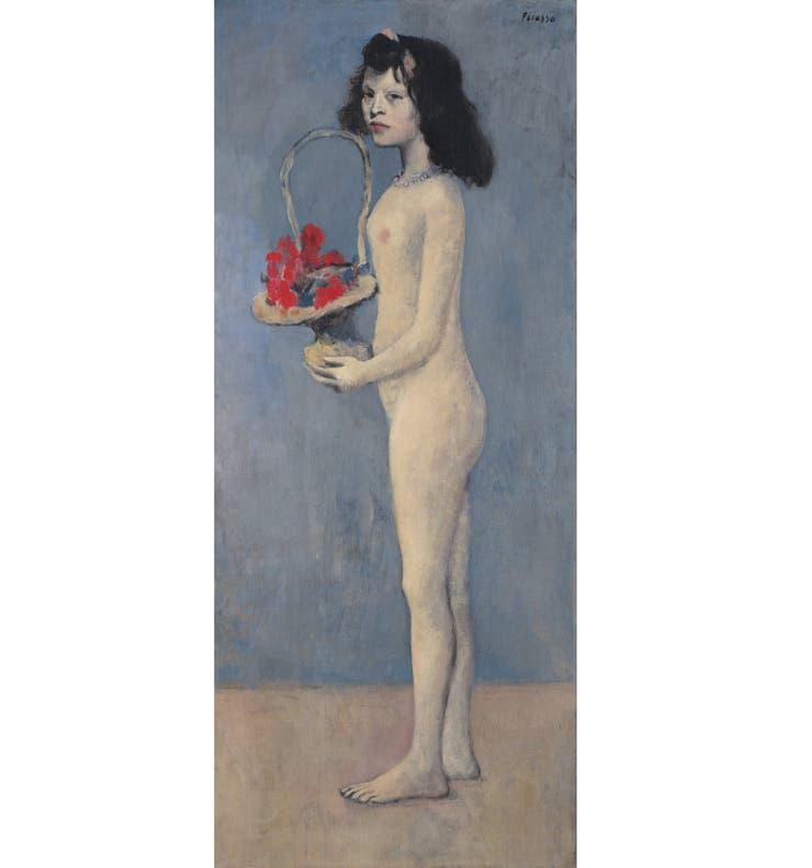Chica con cesta de flores (1905), una pintura de Pablo Picasso de casi dos metros de alto, se rematará con una base estimada entre 70 y 100 millones de dólares