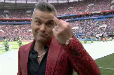 Robbie Williams y su insólito gesto