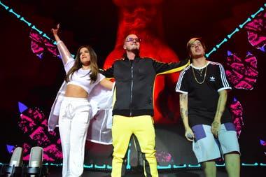 J Balvin Cantó Con Duki Y Anitta En El Luna Park La Nacion