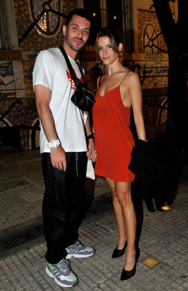 Violeta y su novio Juan Ingaramo