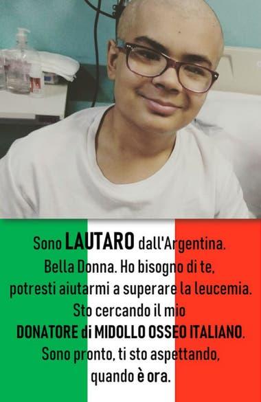 Las campaña que realizó Lautaro en las redes apelan a que el mensaje llegue a Italia