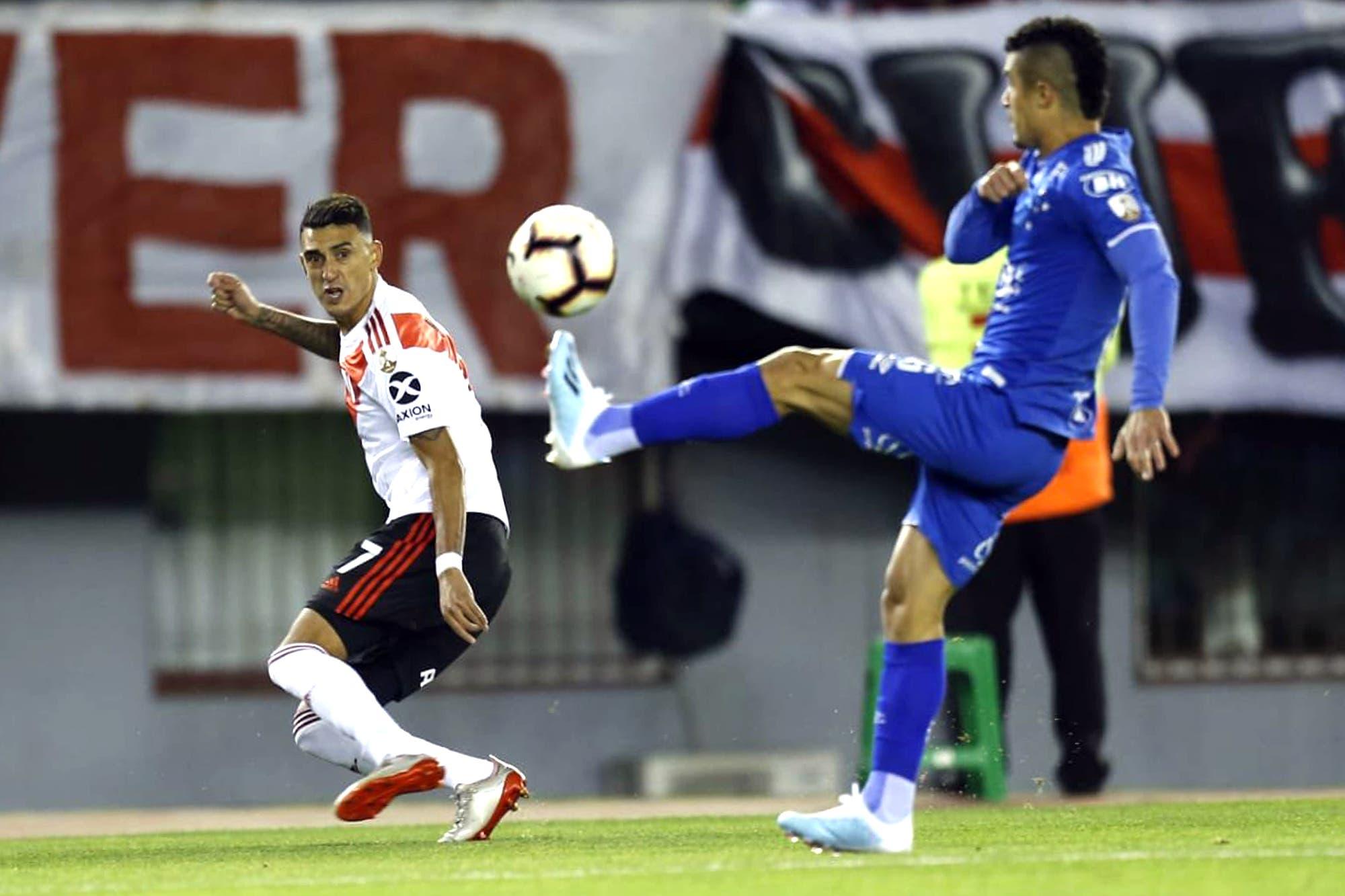 River-Cruzeiro, por la Copa Libertadores: los brasileños se animan más en el segundo tiempo